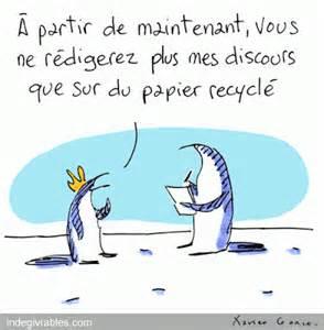 les indégivrables papier recyclé